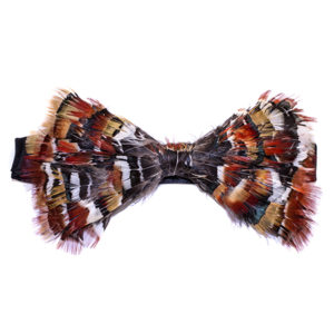 Lady Amherst Pheasant Feather Bow Tie