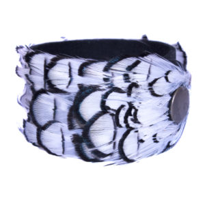 Black & White Pheasant Feather Cuff Medium