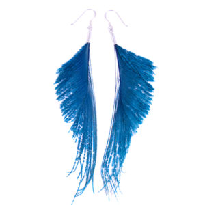 Turquoise Sword Feather Earrings