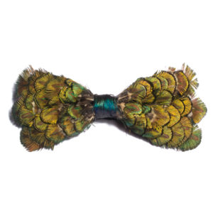 Royal Peacock Feather Bow-Tie