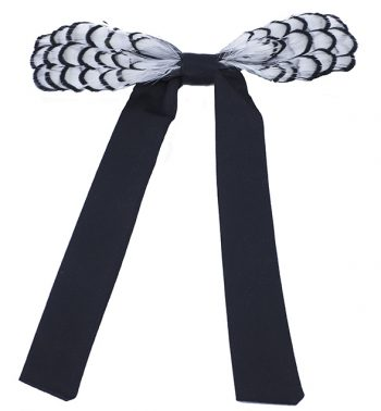 womens pioneer phesant feather bow tie