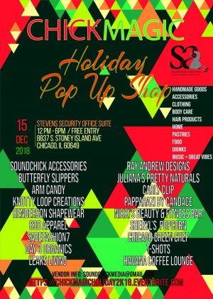 Chick Magic 2018 Holiday Pop up Shop